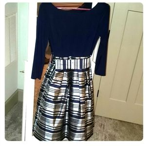 Metallic Striped Party Dress (Worn Once)